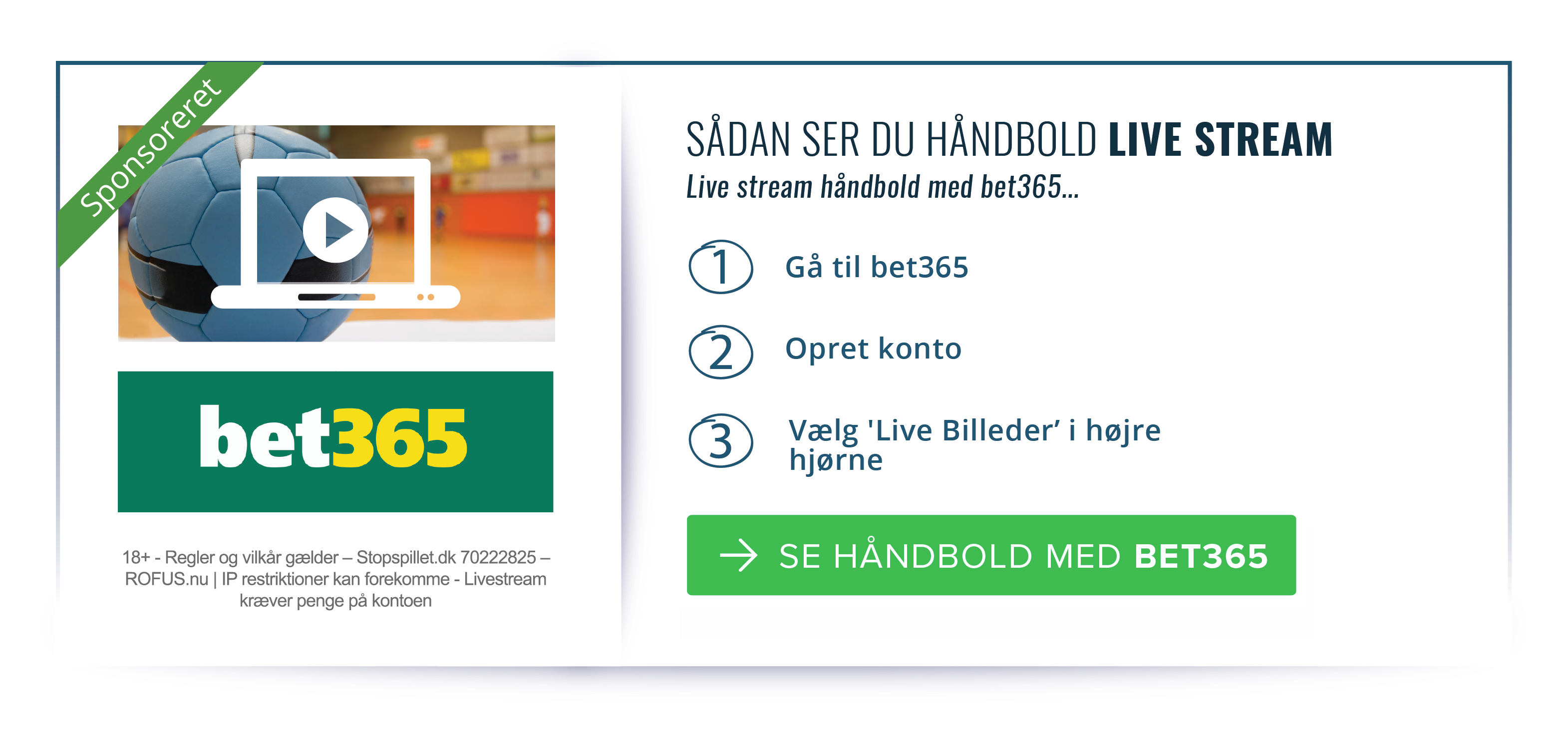 bet365 håndbold live stream